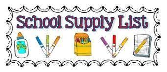 SUPPLIES LISTS FOR GRADES K-8 (2020-21)